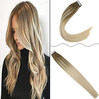 Ad Hot Joyoung 16inch Tape In Real Hair Extensions Ombre Human