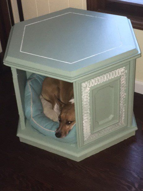 Heirloom Traditions Paint Challenge Dog Bed End Table Cabinet