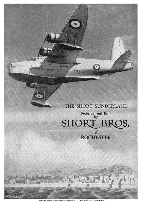 https://flic.kr/p/egEz9Y | 1939 Short Sunderland ad | Illustration by Frank L Westley.