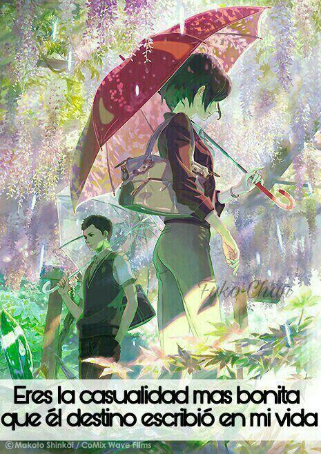 Pin De Micaela Belen En Ryuzakianime Jardin De Las Palabras Fondo De Anime Temas Anime