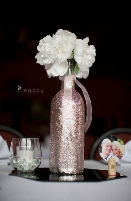 Trendy Diy Wedding Centerpieces Bling Wine Bottles Ideas Wedding