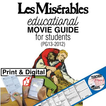 Les Miserables Movie Guide Questions Worksheet Google Form Pg13 2012 Movie Guide Les Miserables Les Miserables Movie