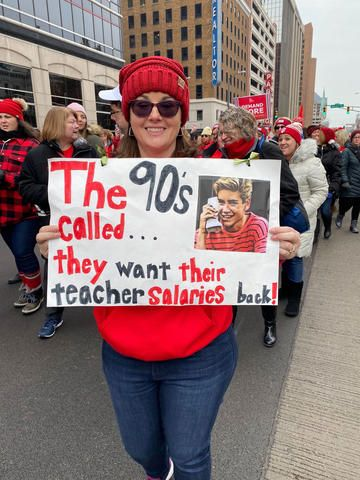 Redfored Indiana Protest Signs Teacher Signs Teaching License