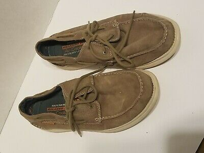 Ad Ebay Skechers Men S Size 10 Relaxed Fit Canvas Shoes Sn64644