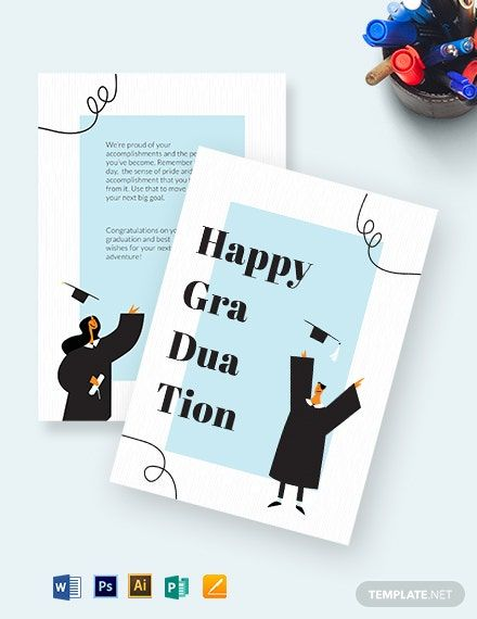 Instantly Download Happy Graduation Card Template Sample Example In Microsoft Wor Graduation Card Templates Happy Graduation Graduation Invitations Template