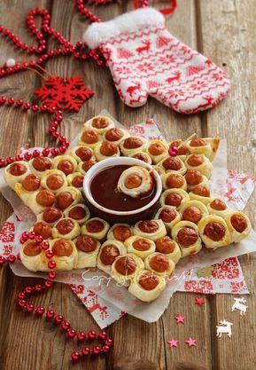 Centrotavola Stella Di Natale.Stella Di Wurstel E Pasta Sfoglia Ricetta Antipasto Veloce