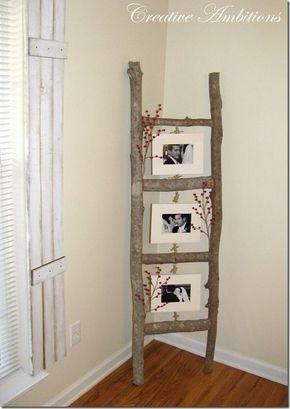 Einfache Und Einfache Diy Home Decorating Ideas Decozilla Decorating Decozilla Einfache Ideas Kunstgewerbe Einfaches Wohndekor Rustikale Bilderrahmen