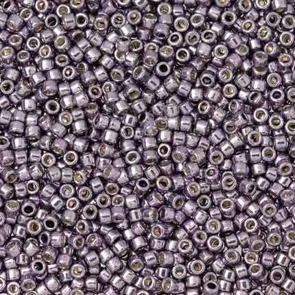 50g glass HEX seed beads approx 2mm size 11//0 Silver Silver-Lined 2-cut