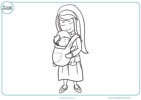 Dibujos Del Dia De La Madre Para Colorear Faciles Bonitos