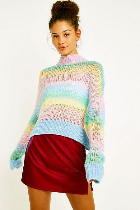 a51016fa Lazy Oaf Pastel Rainbow Stripe Jumper | Shirts in 2019 | Pastel ...