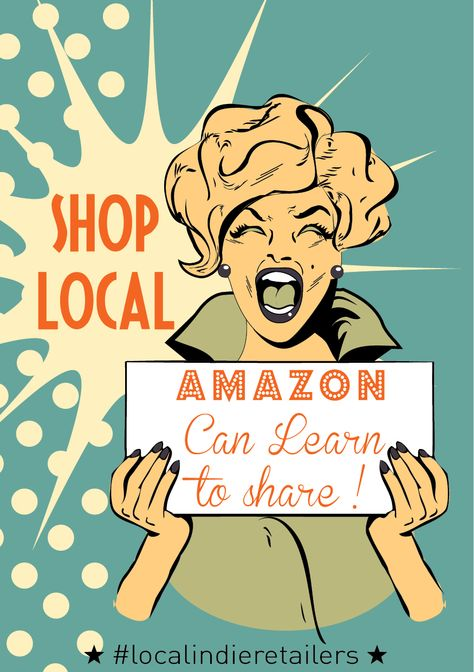 Shop local: Amazon can learn to share! #preachit #buylocal #shoplocal #justsayno #toledochooselocal