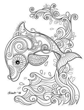 Resultado De Imagen De Mandala Tools Colouring Dolphin Coloring Pages Mandala Coloring Pages Animal Coloring Pages