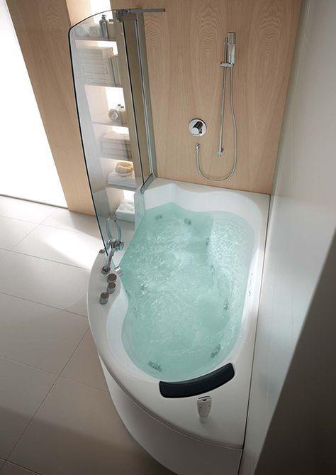 Teuco Corner Whirlpool Shower Integrates Shower With Bathtub Met