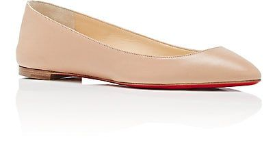 sports shoes 2f6d3 13fac Christian Louboutin Women's Eloise Leather Flats - Nude