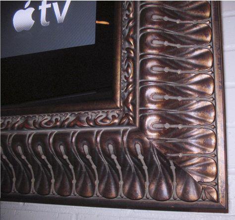 Corner Sample From A Recent Tv Frame Built At Gold Leaf Gallery Framed Tv Custom Frame Shop Frame Shop