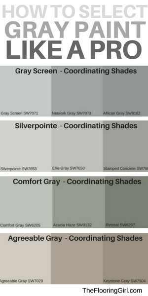 How to select the best shade of gray paint and a matching accent wall.  Most popular gray paints.  #gray #paint #shades #accentwall #homedecor