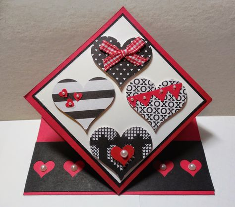 380 - PENNY TOKENS STAMPIN SPOT this is a Pop Up Springer Card just in time for Valentine's Day.  Posted to Wacky Watercooler Valentine's Day Challenge http://watercoolerchallenges.blogspot.ca/2015/02/wcc17-valentine-challenge.html