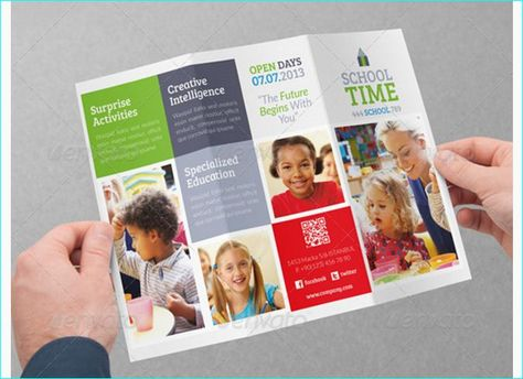 Brosur Sekolah - Education Brochure Template Contoh Brosur - school brochure template