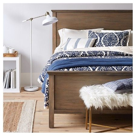 Blues and whites are the color of the season. Get this boho chic looks with handsome furniture, neutral and mixed-metal accents, and stylish organization to keep accessories contained.