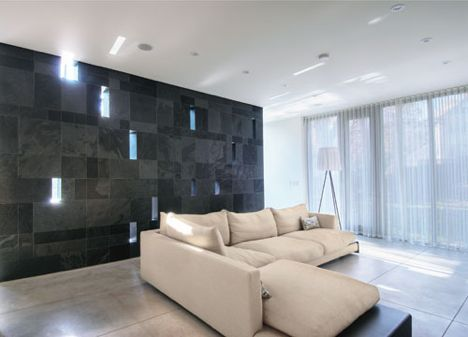 the trombe wall low tech solar design makes a comeback slate walls and modern - Slate House Design