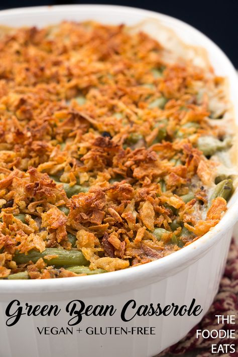 Vegan Green Bean Casserole Recipe Vegan Thanksgiving Dinner Vegan Green Bean Casserole Greenbean Casserole Recipe
