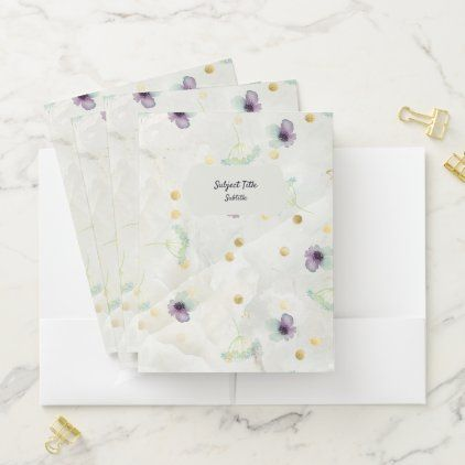 Small Floral Botanical White Marble Pattern Pocket Folder Zazzle Com In 2020 Marble Pattern Floral Botanical Pocket Folder
