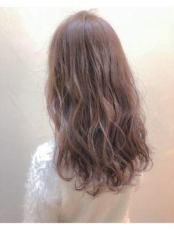 Noz河村遼哉 ピンクアッシュベージュ ヘアスタイリング 髪 色