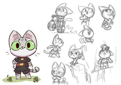 Cat Character design, Regis Donsimoni