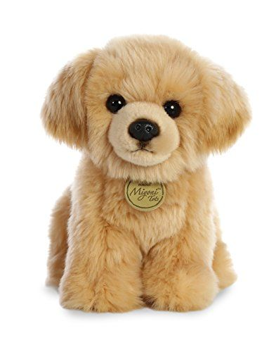 Aurora 26339 World Miyoni Plush Golden Retriever Pup Tan Animal