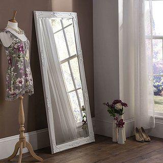 Florence White Leaner Mirror Black Wall Mirror White Wall Mirrors Leaner Mirror