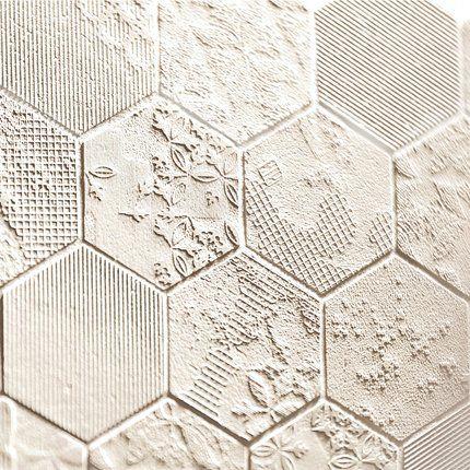 Revêtement sol/mur grès cérame (Déchirer Décor Bianco), design Patricia Urquiola, Mutina (It)