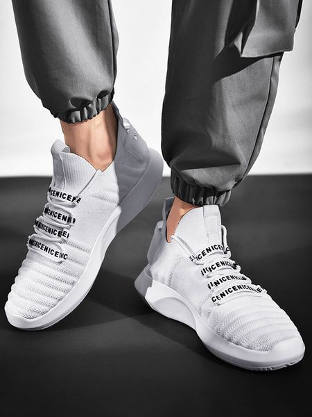 Chaussures de sport confortables en polyester à bout rond pour ...
