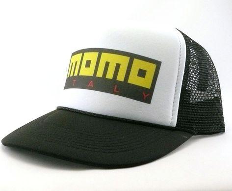 ff87fb19d1c Momo Trucker Hat mesh hat snap back hat black new adjustable Italy race hat   truckerhat  Trucker