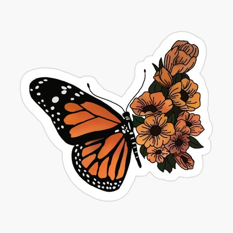 Butterfly Wallpaper, Monarch Butterfly, Blue Butterfly, Butterfly Design, Journal Stickers, Laptop Stickers, Notebook Stickers, New Sticker, Logo Sticker