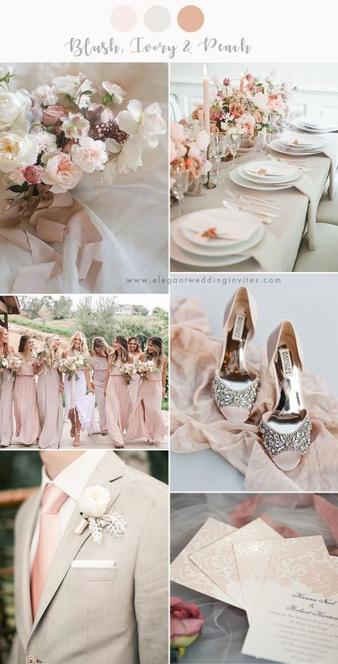 chic and stylish blush and ivory neutral wedding color combos wedding themes 7 Stunning Wedding Color Palettes with Blush Pink