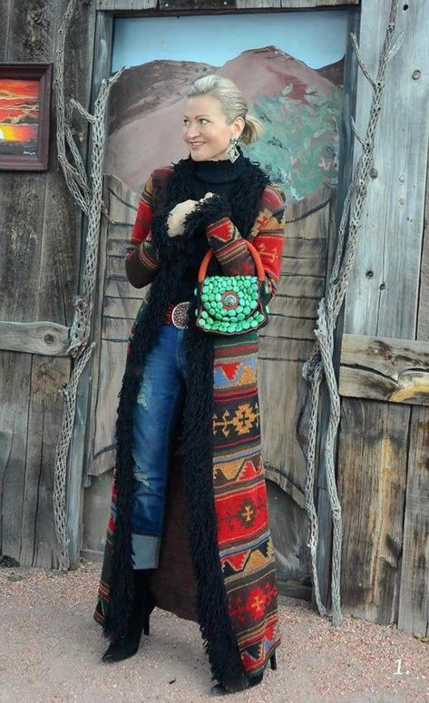 Loose Ethnic Style Floral Print Long Sleeve Trench Coat Outwear