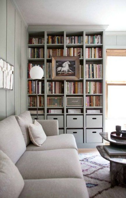 Home Library Decor Ikea Billy 22 Ideas Home With Images Bookshelves Built In Ikea Living Room