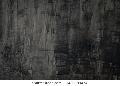 Texture Of Old Gray Concrete Wall For Dark Background Abstract