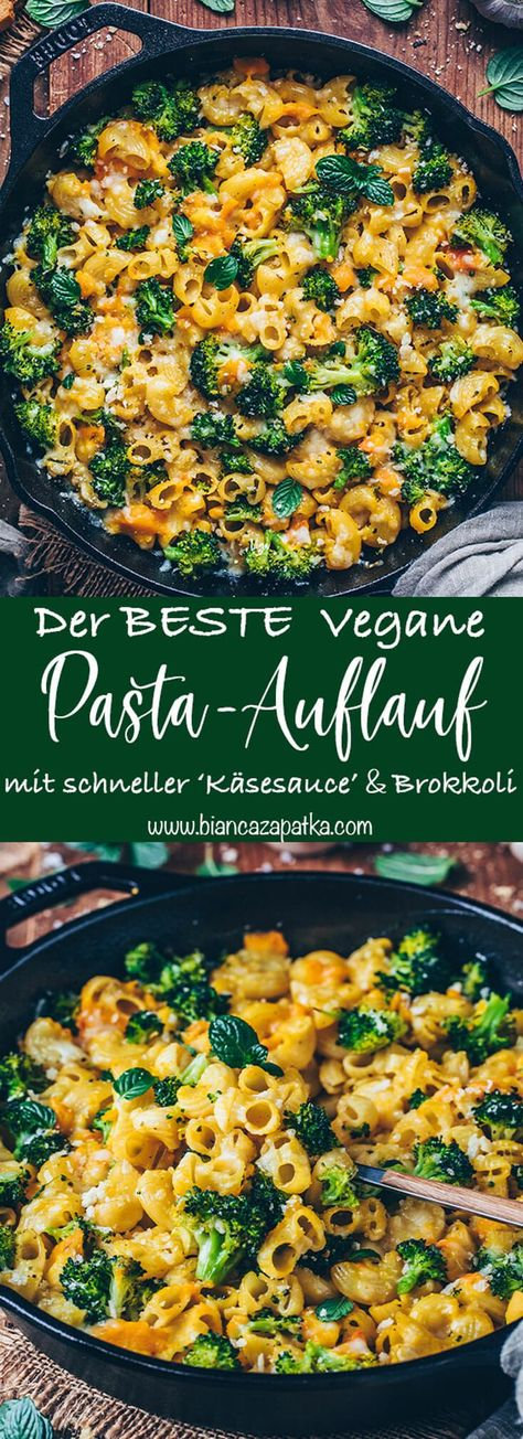 Broccoli pasta bake with vegan cheese sauce - Bianca Zapatka | recipes -  Baked macaroni with broccoli and vegan cheese sauce (Mac and Cheese) – A simple pasta bake recipe - #AuthenticMexicanFoods #Bake #bianca #broccoli #cheese #HispanicKitchen #ItalianDesserts #MexicanRecipes #Pasta #recipes #sauce #vegan #zapatka