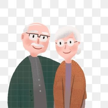 Hand Drawn Cute Elderly Couple Grandparents Clipart Cute Lderly Png Transparent Clipart Image And Psd File For Free Download How To Draw Hands Hand Illustration Drawing Clipart