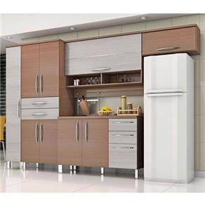 Cozinha Compacta Bartira Cintia Com 9 Portas E 5 Gavetas Cozinha