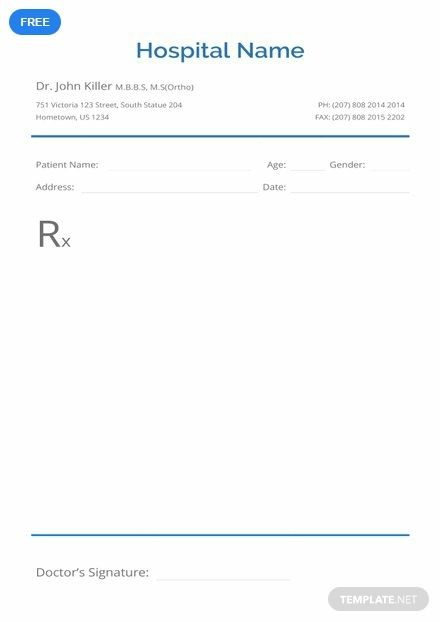 Free Blank Prescription Prescription Pad Medical Prescription