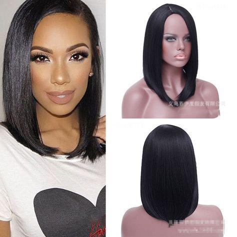 Fashion Women Lady Short Straight Hair Full Wigs Cosplay Party Bob Hair Wig
