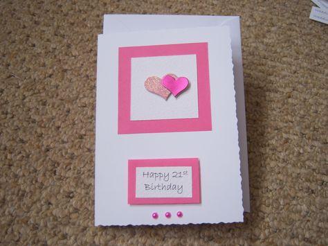 Handmade 21st Birthday Card 21st 50th Etc Number Bdays Pinterest