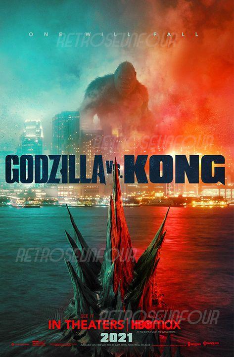 Godzilla vs. Kong Save The World Movie Poster Ready to frame 11