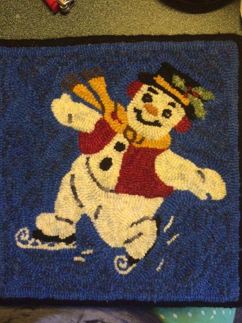 Hooked Snowman Nova Scotia Guild