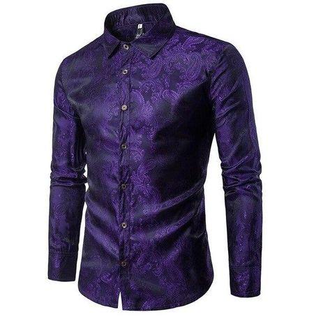 d6d71974 Satin Solid Glow with Ruffles Detail Men Long Sleeves Shirt in 2019 | Men's  shirts | Silk shirt dress, Shirts, Satin shirt