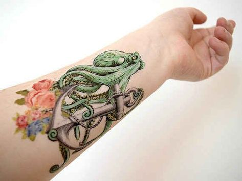 68 Beautiful Temporary Tattoos You'll Want To Keep Forever,  #Beautiful #octopustattooarmslee...