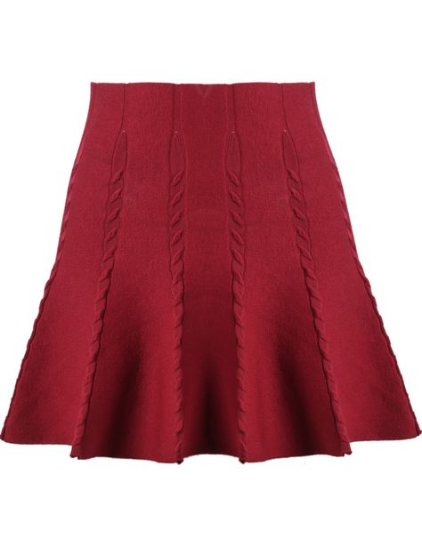 Shop Red High Waist Cable Knit Skirt online. Sheinside offers Red High Waist Cable Knit Skirt & more to fit your fashionable needs. Free Shipping Worldwide!