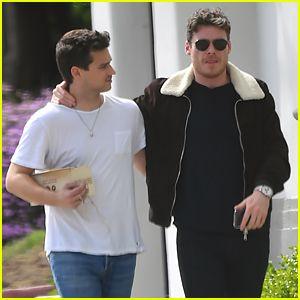 Richard Madden Wraps Arm Around Brandon Flynn During Errands Run Richard Madden The Hollywood Reporter Richard